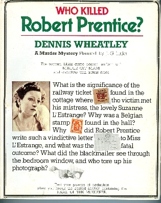 Who killed Robert Prentice?