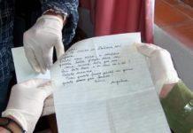 una lettera da esaminare