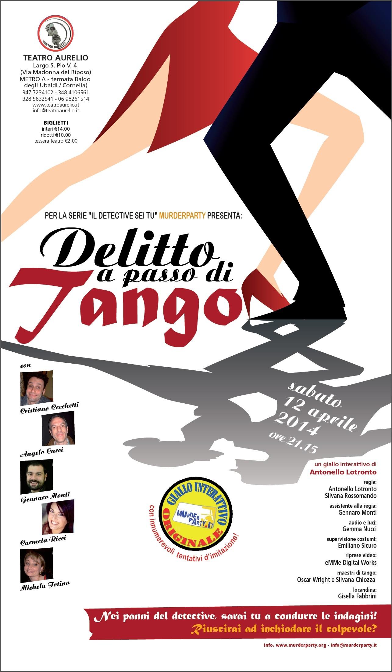 Delitto a passo di tango - locandina