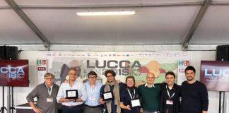 Una premiazione del Premio Remo Chiosso a Lucca Comics & Games